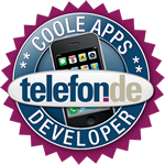 Seal Of Quality Coole Apps Developer from telefon.de