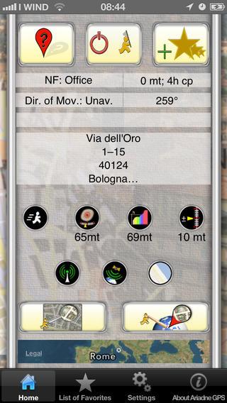 iPhone mostrando la pantalla de configuración de una ruta