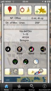 Schermata principale dell'app